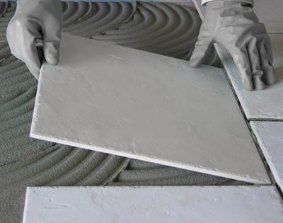 Pokládka nové keramické dlažby na stávající dlažbu